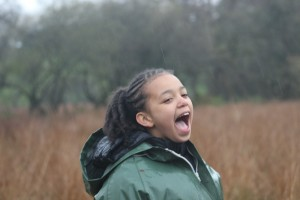 Child enjoying a new experience provided by the Shallowford Trust